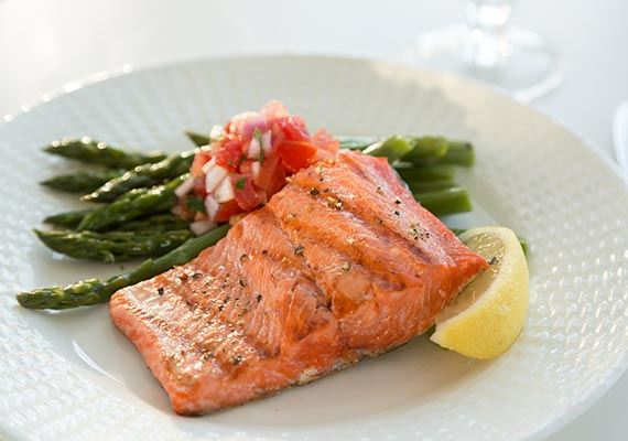 Okema Area Bed and Breakfast - Salmon for Dinner
