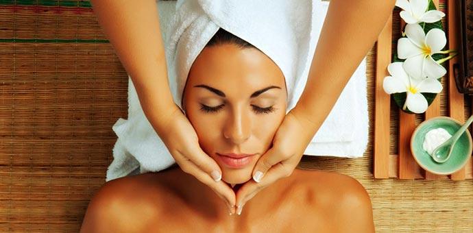 A woman enjoys a relaxing massage