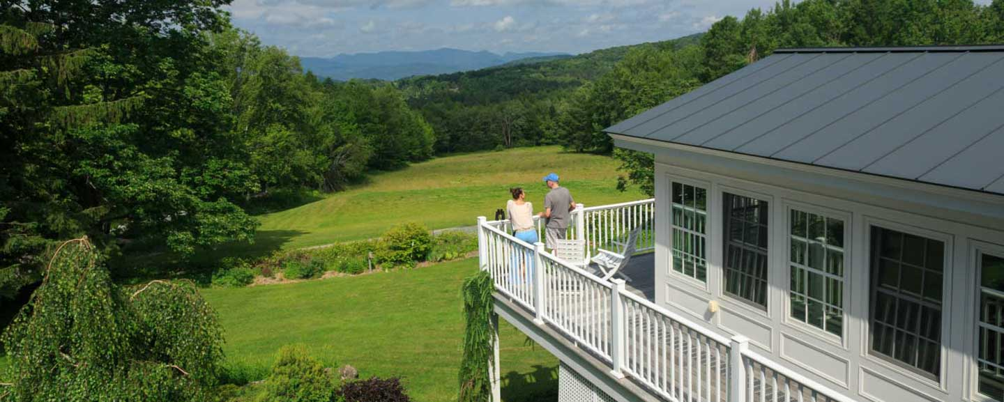 Gorgeous Vermont views on bed and breakfast balcony