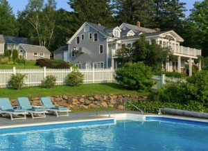 Pristine pool at Vermont bed and breakfast