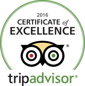 Vermont bed and breakfast receives the TripAdvisor Certificate of Excellence 2016