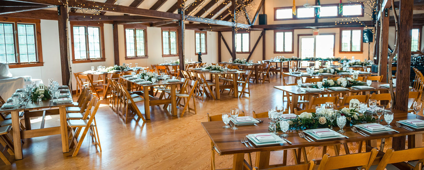Vermont Barn Weddings table setting