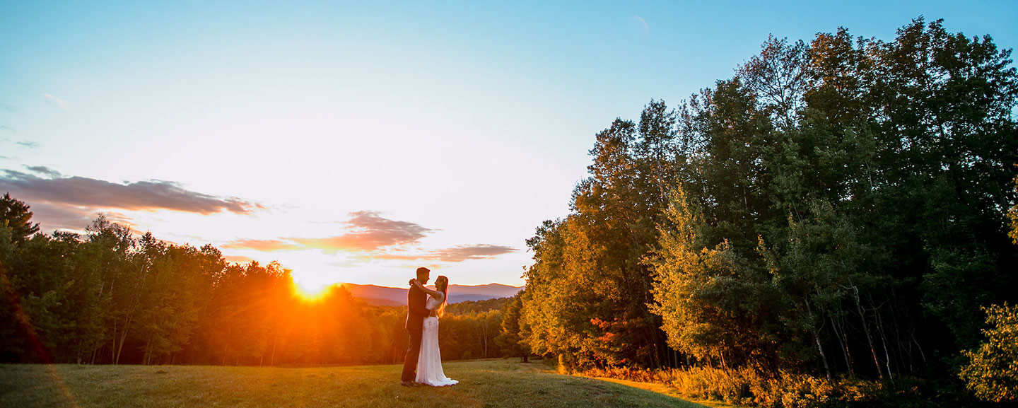Vermont Wedding Couple - Outdoors at Sunset