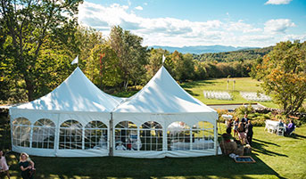 Destination Wedding in Vermont - Outside Tent